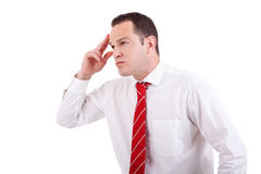 Portrait of a business man thinking Royalty Free Stock Photo