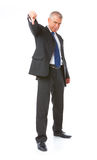 Portrait of business man thumb down Stock Photography