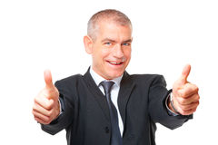 Portrait of business man thumb up Royalty Free Stock Image