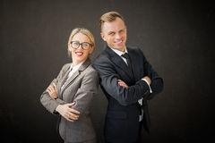 Portrait of business man and woman Stock Image