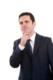 Portrait of business man with wondering expression Royalty Free Stock Image