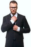 Portrait of business man Stock Images