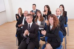 Portrait Of A Business Men And Women In Seminar Stock Images