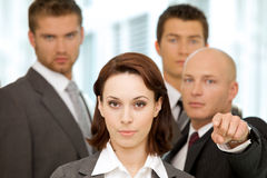 Portrait of business people Stock Images
