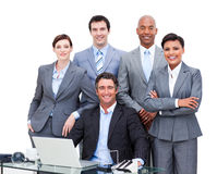 Portrait of a business people Royalty Free Stock Photos