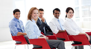 Portrait of business people at a conference Royalty Free Stock Photo