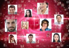Portrait of business people connected to each other royalty free stock photography