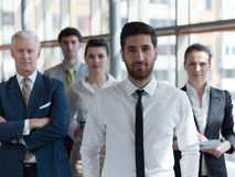 Portrait of business people group at modern office Stock Image