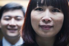Portrait of business people, looking at camera, Beijing Royalty Free Stock Photos