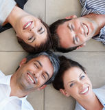 Portrait of business people lying down Royalty Free Stock Image