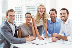 Portrait of business people at office Royalty Free Stock Photos