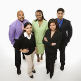 Portrait of business people standing. Stock Images