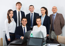 Portrait of  business specialist and secretary working. In modern office Stock Image