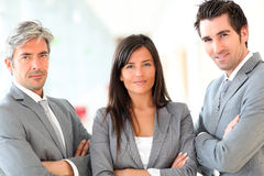 Portrait of business team stock photography