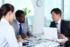 Working meeting Royalty Free Stock Images