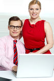 Portrait of business team. Man and woman Stock Images