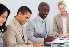 Portrait of a business team in a meeting Stock Photos