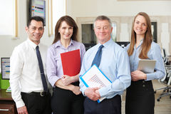 Portrait Of Business Team In Modern Office royalty free stock photography