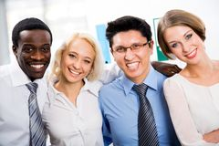 Portrait of business team. In office Royalty Free Stock Photo