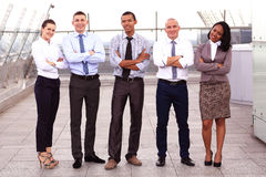 Portrait Of Business Team Outside Office Stock Images