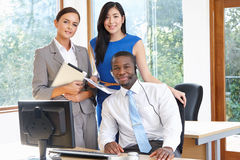 Portrait Of Business Team Working In Office Royalty Free Stock Images