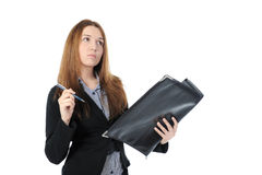 Portrait of business woman. Stock Photos