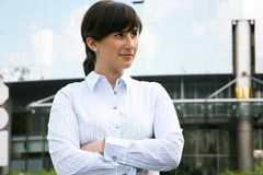 Portrait of the business woman Stock Images