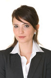 Portrait of business woman. White background. Isolated Stock Photography