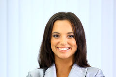 Portrait of business woman. At office Royalty Free Stock Photo