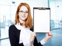 Portrait of the business woman Royalty Free Stock Photo