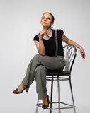 Portrait of the business woman Royalty Free Stock Photos