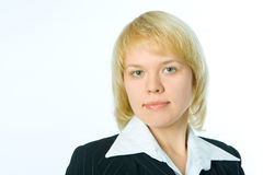 Portrait of business woman. Over white background Royalty Free Stock Photo