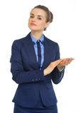 Portrait of business woman clapping Stock Photos
