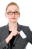 Portrait of a business woman with a credit card Stock Image