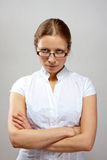 Portrait of business woman with crossed arms Royalty Free Stock Photos