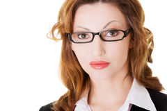 Portrait of business woman in eyeglasses. Stock Photos