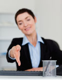 Portrait of a business woman giving her hand Stock Image