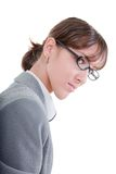 Portrait of a business woman in glasses Stock Image