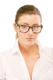 Portrait of business woman in glasses Royalty Free Stock Images