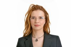 Portrait of business woman in glasses Stock Photo