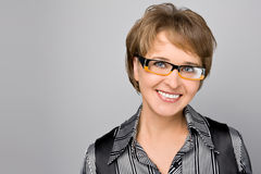 Portrait of the business woman in glasses Royalty Free Stock Photo