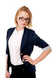 Portrait of business women in glasses. Stock Image