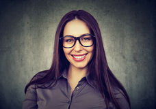 Portrait of a business woman in glasses stock images