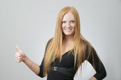 Portrait of business woman Stock Photos