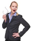 Portrait of a business woman with happy expression Royalty Free Stock Photography