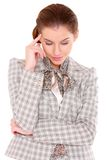 Portrait of a business woman with headache Royalty Free Stock Image