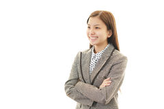 Portrait of a business woman with her arms crossed Stock Image
