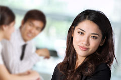 Portrait of a business woman with her colleagues i Royalty Free Stock Photography