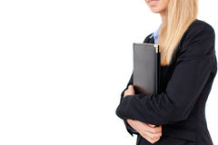Portrait of business woman holding a folder Royalty Free Stock Photography