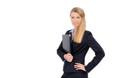 Portrait of business woman holding a folder Stock Photography